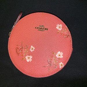 Coach Round Pink Floral Case